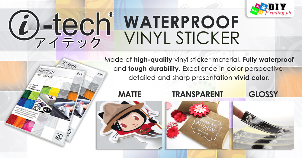 picture relating to Printable Vinyl Sticker identify I-tech Water-resistant Printable Vinyl Sticker